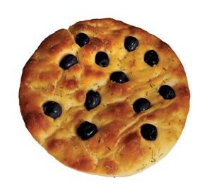 FROZEN BREAD - FROZEN FOCACCIA FROZEN FOUGASSE FROZEN PART-BAKED ALTAMURA FOCACCIA WITH OLIVES AND ROSEMARY
