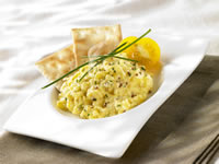 FROZEN EGG-BASED PRODUCTS - FROZEN SCRAMBLED EGG PORTIONS Different recipes (plain, salmon&dill,bacon&cheese) ideal for airline Meals and for Foodservice customers/Frozen Scrambled Egg manufacturer