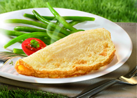 Ready to eat Our omelets are cooked in a special process and remain fluffy when reheated ! Frozen Omelette Half Moon shape Frozen Egg-based products Frozen Dairy, Frozen Egg