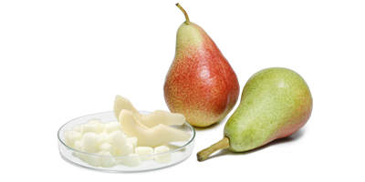 IQF FROZEN PEAR -  various cuts sizes (dices, slices, tailor made cuts...) conventional, organic, contract farming